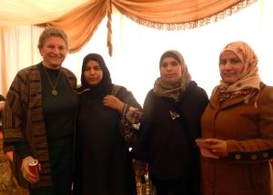 Sally de Vries and Jordanian women at celebration.