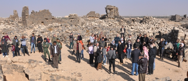 Group tour of Umm el-Jimal concluded the formal opening of the Women's Empowerment Project.
