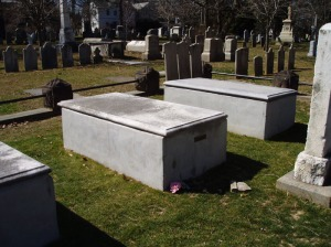 grave of Jonathan Edwards and family members