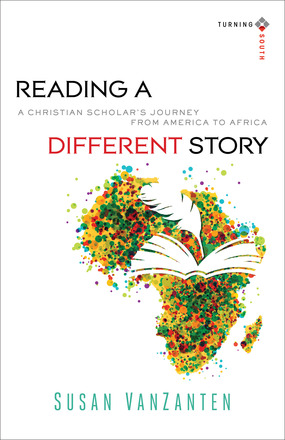 book cover showing the African continent with an open book