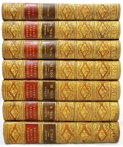 stack of multiple volume's of Gibbon's work.