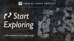 Umm el-Jimal Project graphic advertising virtual tour.