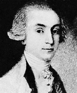 black and white drawing of 18th century Wililam Duer