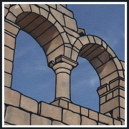 Logo depicting window archway