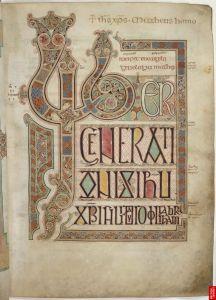 illuminated text in latin
