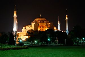 The Hagia Sophia at Night