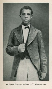 Archival photo of a Booker T. Washington as a young man.