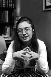 Young Hillary Rodham.