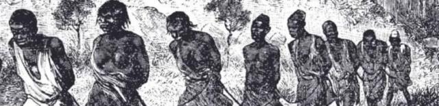 Enslaved Africans chained together