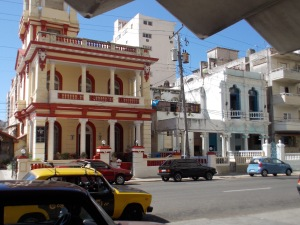 Streetview of buildings in Havana, Cuba
