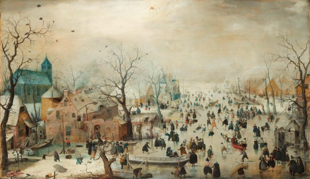 Winter Landscape with Ice Skaters, Hendrick Avercamp, c. 1608, Rijksmuseum