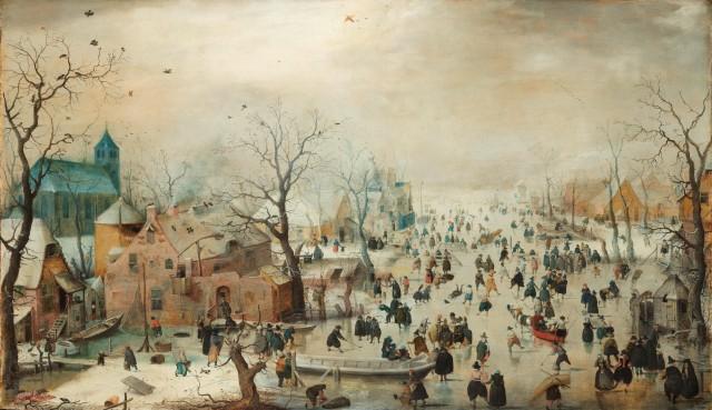 Winter Landscape with Ice Skaters, Hendrick Avercamp, c. 1608, Rijksmuseum