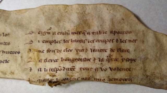 Fragment of manuscript with handwritten text