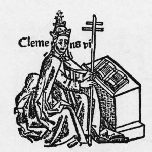 Woodcut drawing of Pope Clement IV